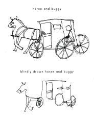 continuous line horse and buggy