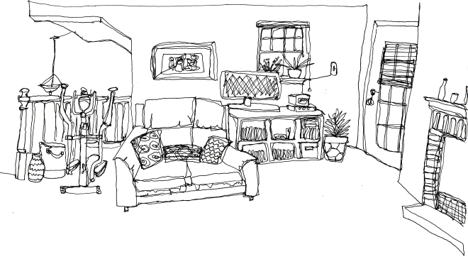 continuous line living room2
