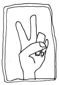 continuous line peace